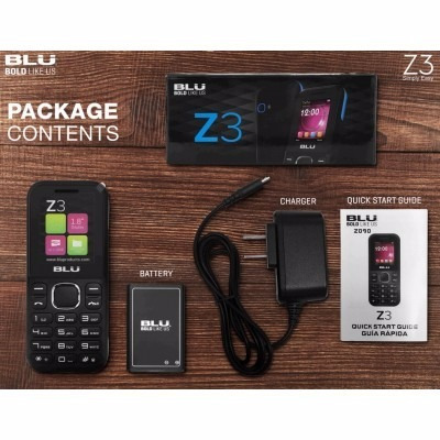 celular blu z3 z150 tela 1.8 dual sim bluetooth radio fm