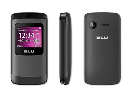 celular blu zoey flex flip 2g dual sim rádio fm bluetooth