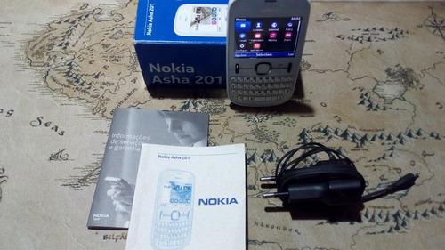 celular c/ teclado nokia 201 usado perfeito completo barato
