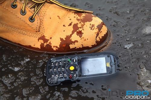 celular caterpillar cat b25 resiste golpe agua