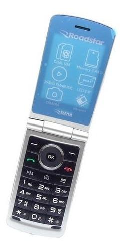 celular de flip 2018 roadstar 2 chip branco