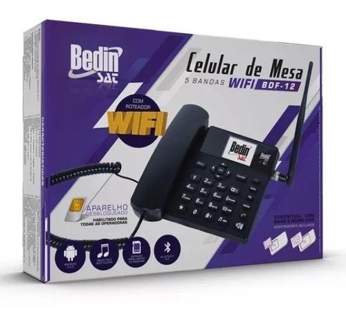celular de mesa bdf-12 pentaband 3g wifi android 4.4 rádio