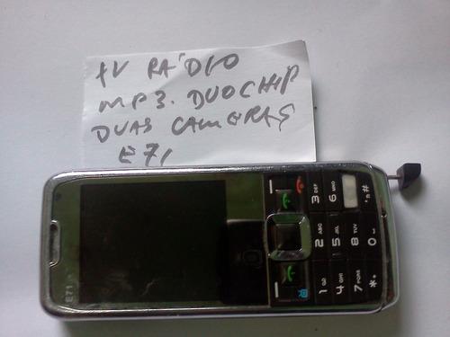 celular e71 importado tv-rádio-duas camera duo chip