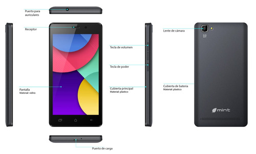 celular económico barato mint 250 8mpx mem 1gb whatsapp