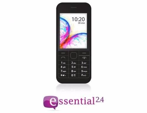 celular essential 2.4 bluetooth, dual sim fm-multiofertas