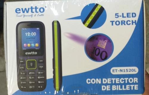 celular ewtto con detector de billete