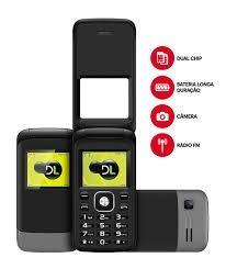 celular flip 2 chip abrir fechar dl yc230 radio barato novo
