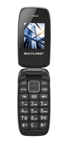 celular flip quadriband multilaser p9022 up dual chip preto