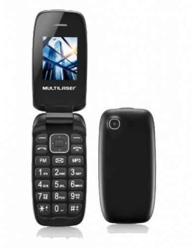 celular flip up multilaser cor preto dual chip mp3 p9022