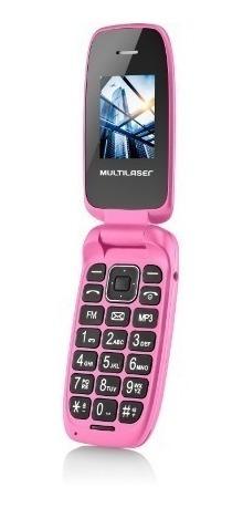 celular flip up rosa multilaser dual chip mp3 p9023
