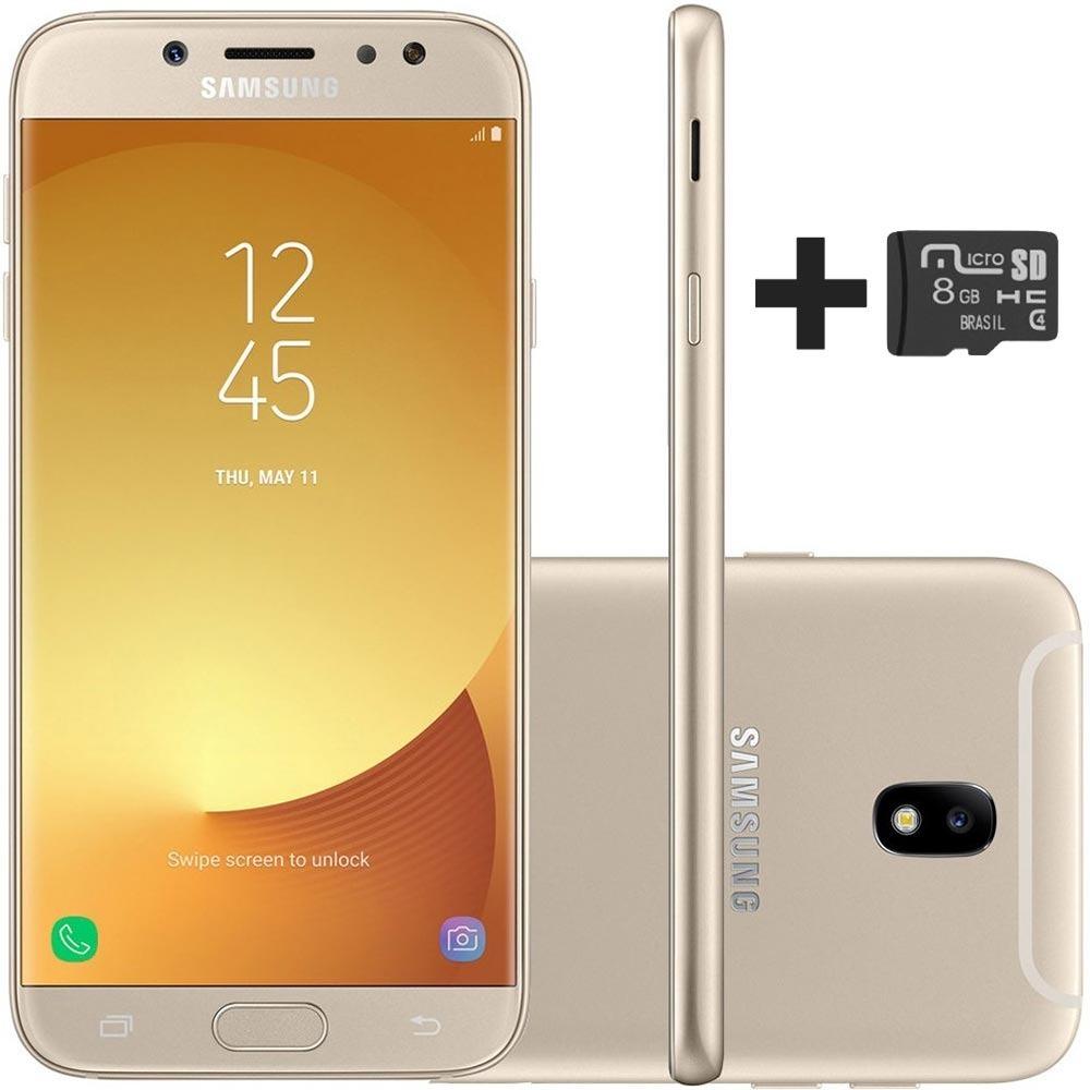 d910ec644 Celular Galaxy J7 Pro 64gb Dourado + Cartão Sd 8gb Grátis - R  1.099 ...