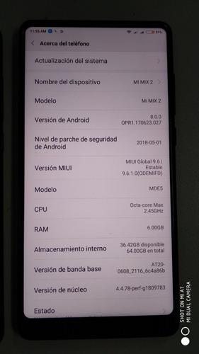 celular gama alta xiaomi mi mix 2 6gb 64rom