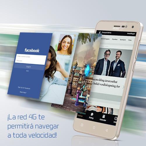 celular haier g61 13mpx 8mpx android 7.0 1gb ram 16gb dorado