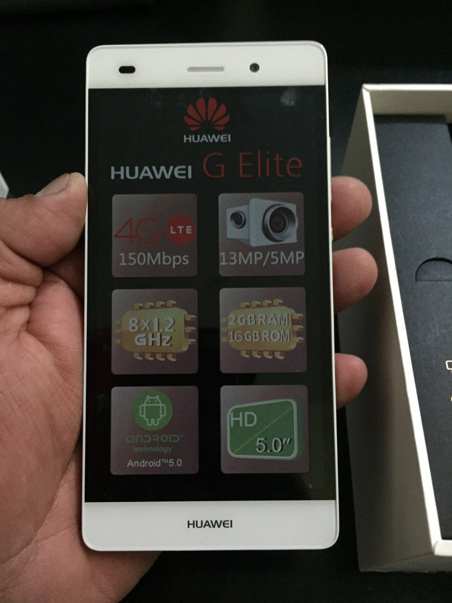 Celular Huawei Modelo G Elite Color Blanco Nuevo Iusacell