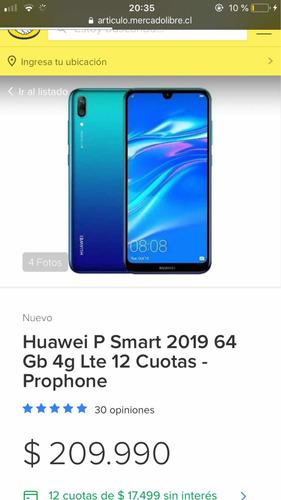 celular huawei p smart 2019 64gb