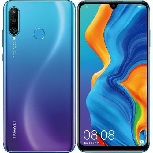 celular huawei p30 lite azul 128/4gb cámara triple + estuche