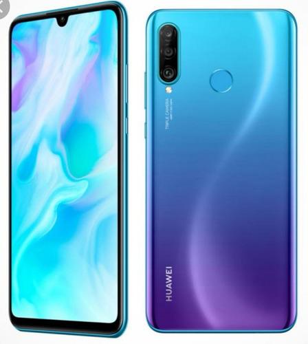 celular huawei p30lite 128gb/4gb. nuevo azul