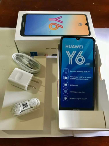 celular huawei y6 2019 , cámara de 13mp y de selfies 8mp,