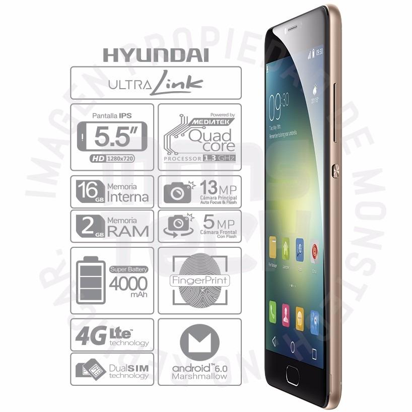 fa0490f0fbb celular hyundai 2gb ram 4g lte flash frontal l. de huella hd. Cargando zoom.