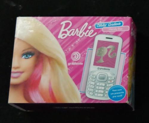 celular infantil barbie gradiente rádio e mp3 - c90 barato