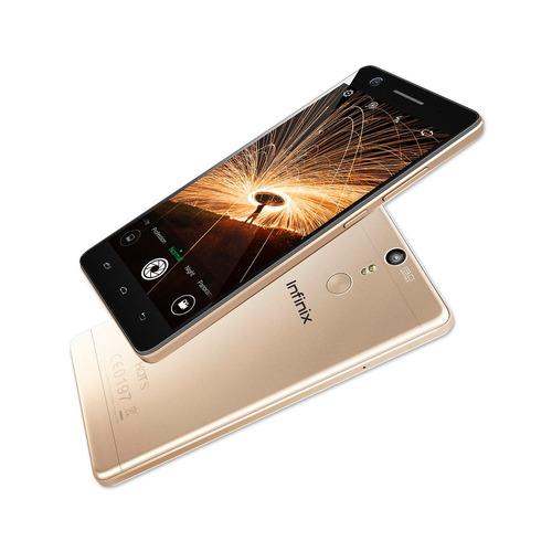 celular infinix hot s x521 dorado 4g + case + screen