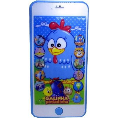 celular iphone 3d + mini tablet infantil galinha pintadinha