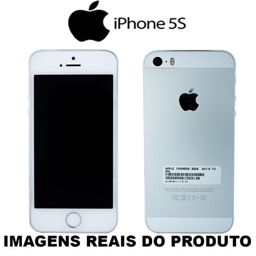 celular iphone 5s 32gb prata usado 100% funcionando a