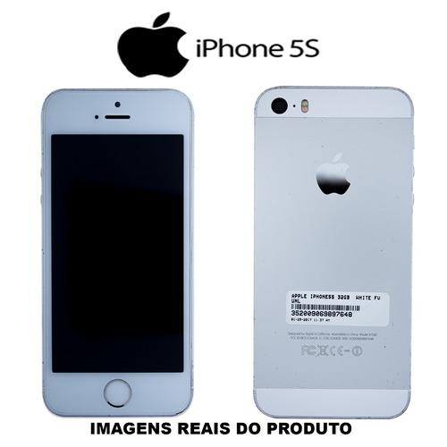 celular iphone 5s 32gb prata usado 100% funcionando c