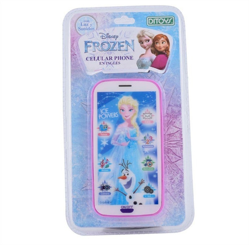 celular juguete disney frozen sonido luces original ditoys