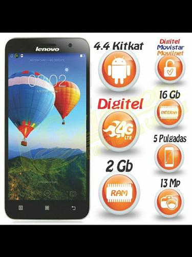 celular lenovo a806 - 4g (lte digitel) - 2gb ram y 16gb rom
