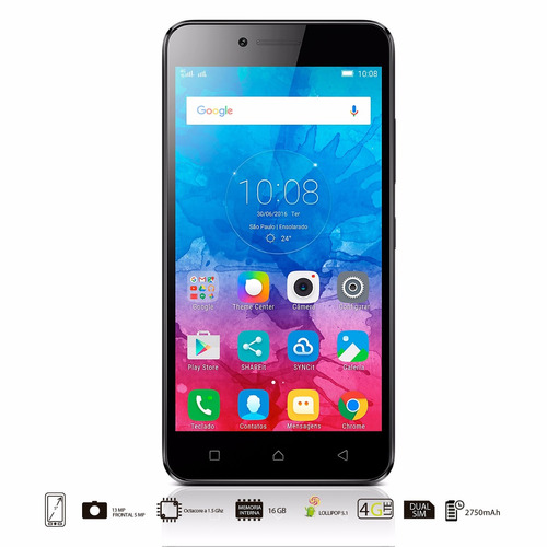 celular lenovo vibe k5 pantalla 5 full hd nuevo gris 4g