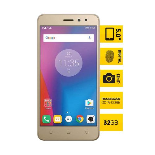 celular lenovo vibe k6 dourado dual tela 5 32gb 4g