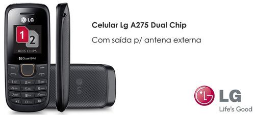 celular lg a275 original - 2 chip - rádio fm - antena rural