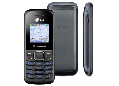celular lg b220 dual sim rádio fm desbloqueado 2g preto 1.45