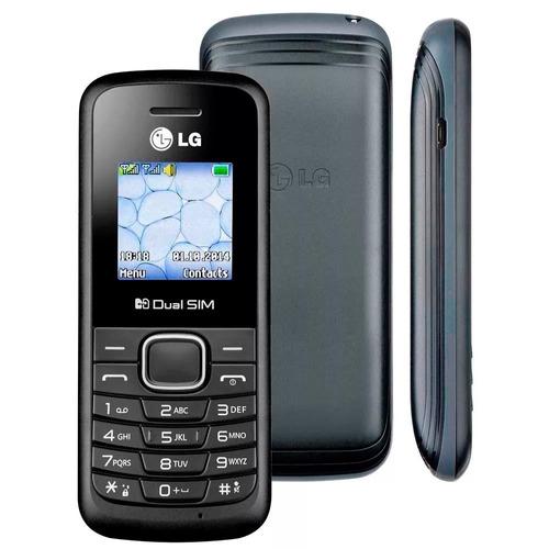 celular lg b220 preto dual chip, rádio fm original