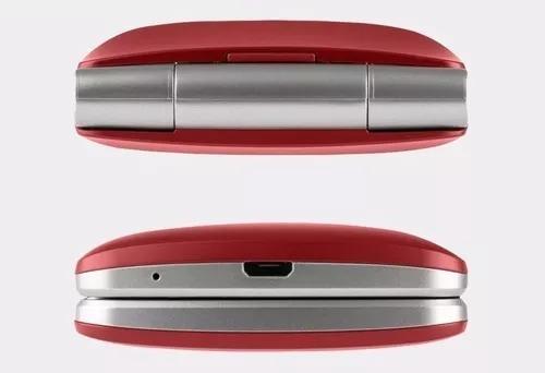 celular lg flip abre e fecha p/idoso tela grande vermelho