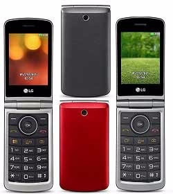 celular lg g-360 flip teclado e tela grandes camera dual sim