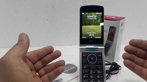 celular lg g360 flip abre fecha tela grande p idoso original