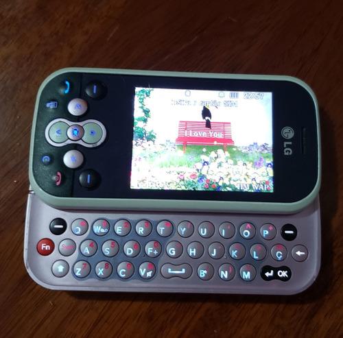 celular lg gt360 branco e rosa