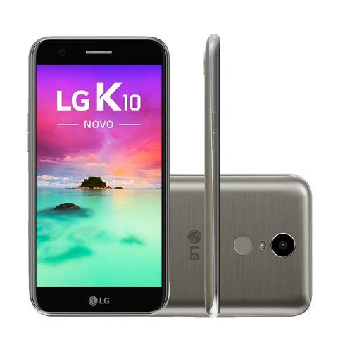celular lg k10 novo 2017 4g m250ds 32gb titânio tela 5,3