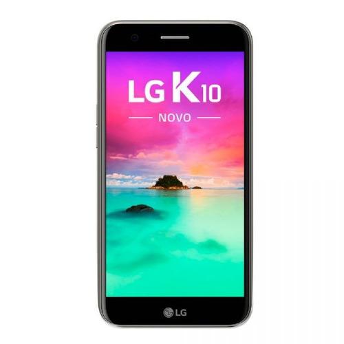 celular lg k10 novo titânio m250ds tela 5,3´´, memória 32gb