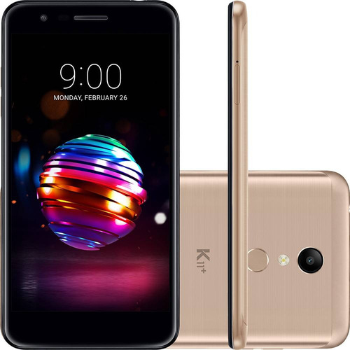 celular lg k11+ 32gb dual chip android 5.3' 13mp dourado