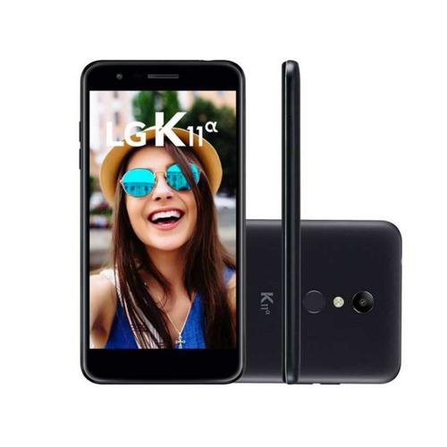 celular lg k11 alpha 32gb* preto câmera de 8mp com auto