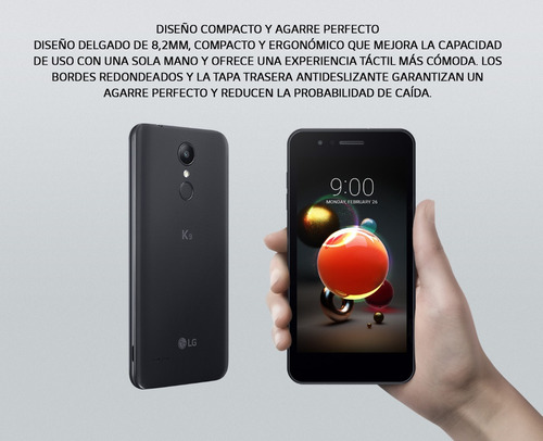 celular lg k9 hd 5¨ resolucion 1280 x 720 cam 8/5mp 2gb 16gb