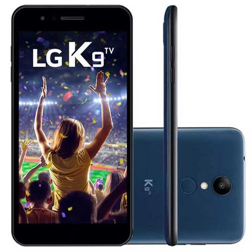 celular lg k9 tv, dual chip, azul, tela 5 , 4g