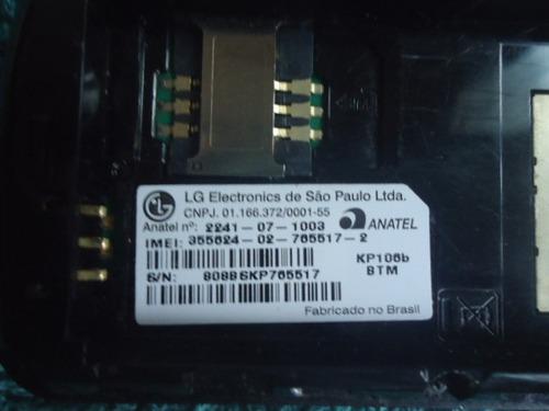 celular lg-kp106b op tim funcionando sem carregador n903