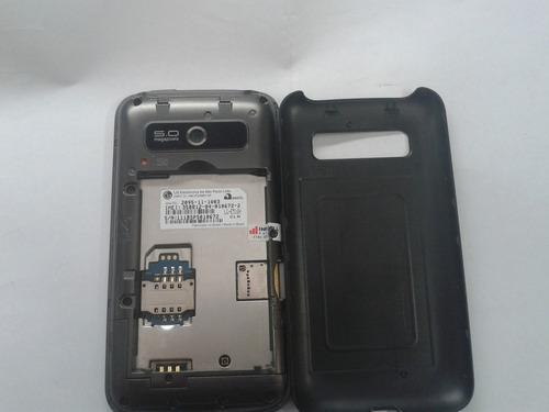 celular lg optimus 510 com defeito (leia a descriçao)