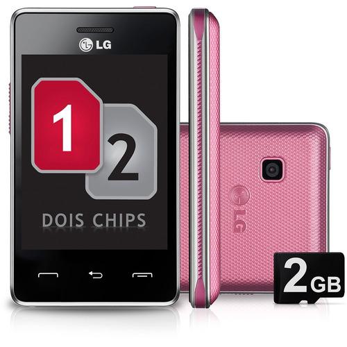 celular lg t375 desbloqueado rosa dual chip   vitrine