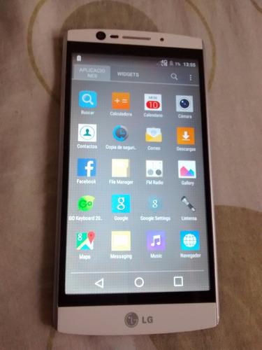 celular lg v10 4gb ram 64gb blanco cámara 16 mp   como nuevo