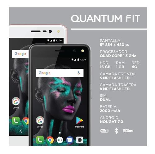 celular liberado 5 pulgadas 4g 1g/16g fit + funda y film